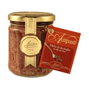 Anchovy fillets in olive oil jar 190g
