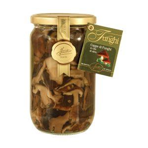 Cappe di funghi Lentinus in olio di oliva 670g