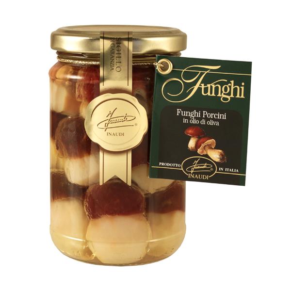 Funghi Porcini Interi Testa Rossa in olio di oliva 280g