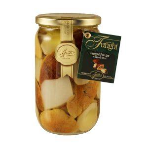 Funghi Porcini Tagliati in olio di oliva 670g