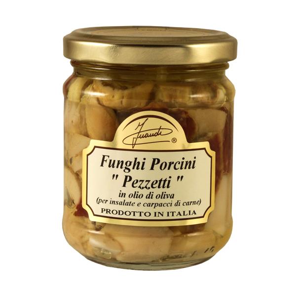 Porcini Mushrooms Pezzetti in olio di oliva 180g