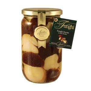 Funghi Porcini Tagliati Testa Rossa in olio di oliva 670g