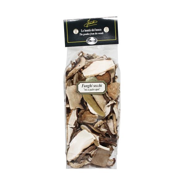 Funghi secchi Mix quattro sapori sacchetto 100g