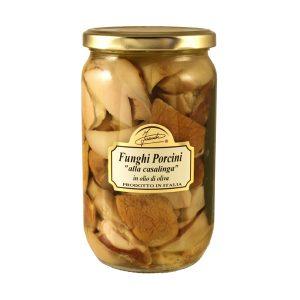 Funghi Porcini tagliati alla Casalinga in olio di oliva 670g