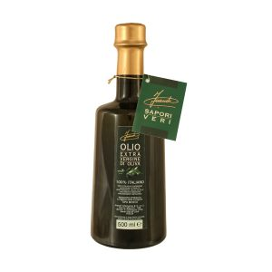 Olio extra vergine d'oliva 100% italiano bottiglia 500ml