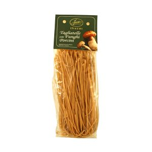 Tagliatelle with Porcini mushrooms transparent pack 250g