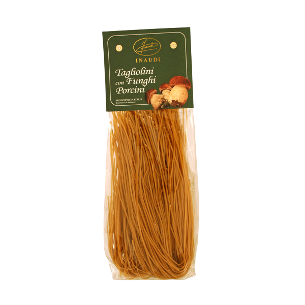 Tagliolini with Porcini mushrooms transparent pack 250g