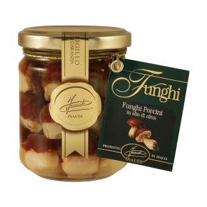 """Funghi Porcini interi testa rossa """"Mignon"""" in olio di oliva 190g"""