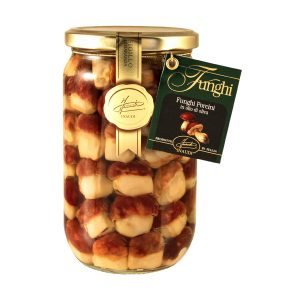 """Funghi Porcini interi testa rossa """"Mignon"""" in olio di oliva 670g"""