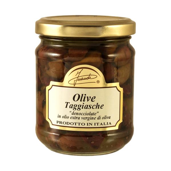 Olive taggiasche denocciolate in olio extra vergine di oliva vasetto 170g