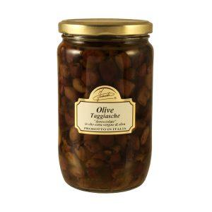 Olive taggiasche denocciolate in olio extra vergine di oliva 600g