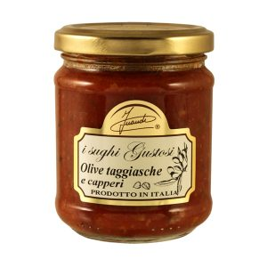 Tomato sauce with taggiasca olives and capers jar 180g