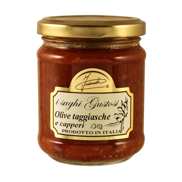 Sugo con olive taggiasche e capperi 180g