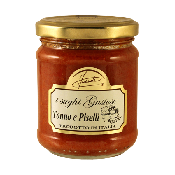Tomato sauce with Tuna and Peas jar 180g