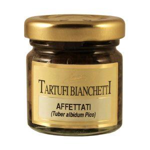 Tartufi bianchetti affettati in olio in vaso 30g