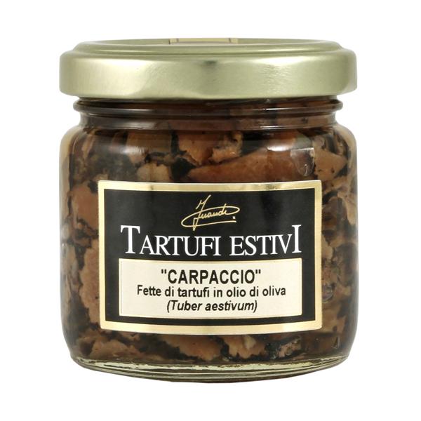 Carpaccio di tartufi neri aestivum in olio vasetto 80g