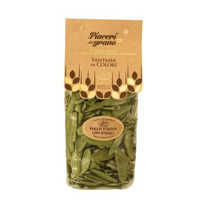 Olive leaves pasta with spinach transparent pack 500g