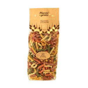 Multiflavour fusilli transparent pack 500g