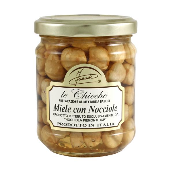 Miele di acacia con nocciole vasetto 220g