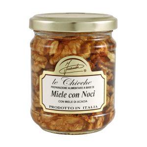 Miele di acacia con noci vasetto 220g