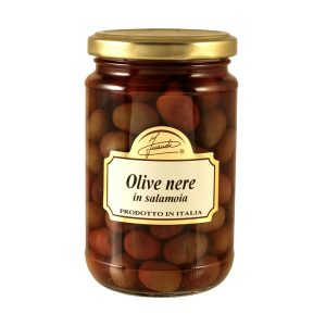 Black Olives in water and salt jar 180g