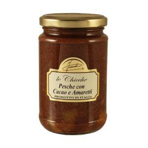 Pesche con cacao e amaretti vasetto 290g