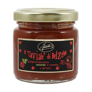 Caviale di belzebù composta con miele e peperoncino vasetto 100g