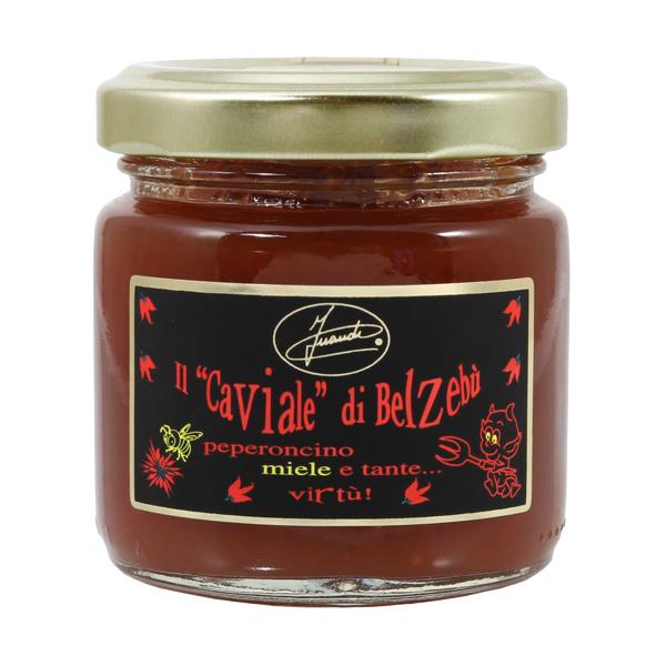 Caviale di Belzebù chilli pepper and honey sauce