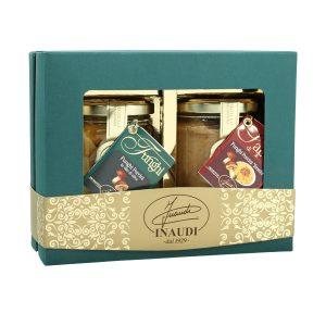 """Confezione regalo Luxury Box """"Passione Porcini"""" contenente: Funghi porcini tagliati in olio da oliva 180g, Sapor di Funghi porcini freschi 180g"""
