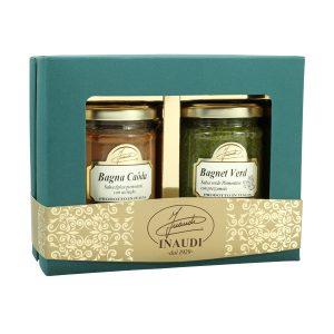 "Confezione regalo Luxury Box ""Piemontese"" contenente: Bagna Caoda 180g, Bagnet Verd 180g"