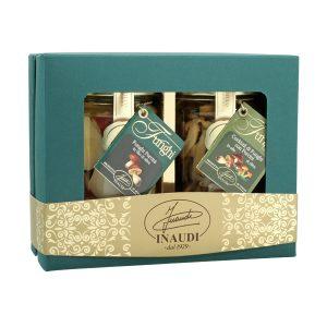 """Confezione regalo Luxury Box """"Sottobosco"""" contenente: Funghi Porcini tagliati in olio di oliva 280g, Cocktail di funghi 280g"""