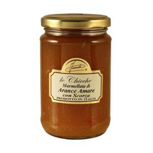 Marmellata di arance amare con scorza vasetto 350g