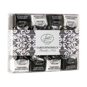 Tartufini dolci bianchi e neri scatola 56g