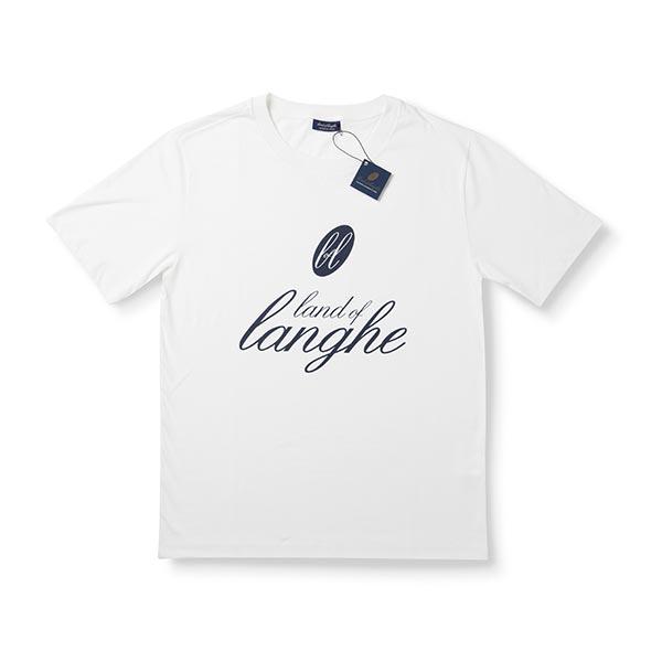 """T-Shirt """"Land of Langhe"""" Bianca"""