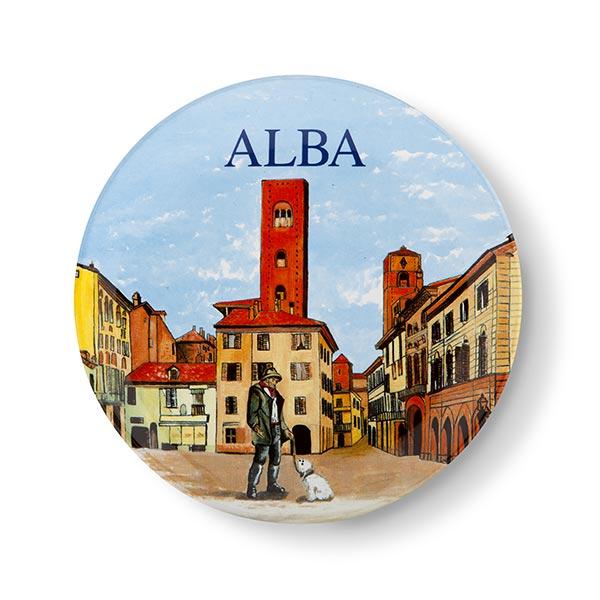 """Piatto Land of Langhe Alba """"Multicolore"""""""
