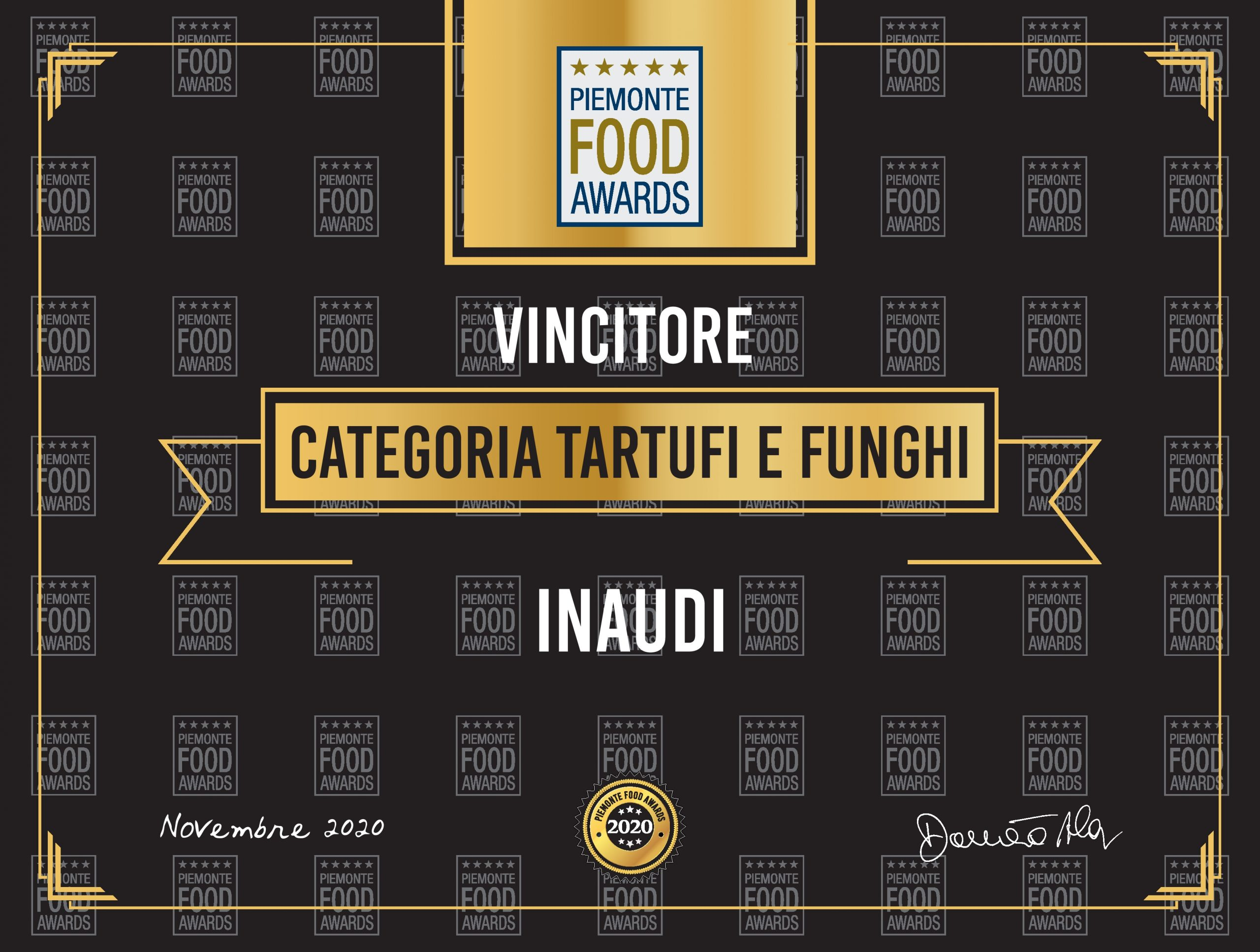 Inaudi vincitore Piemonte Food Awards